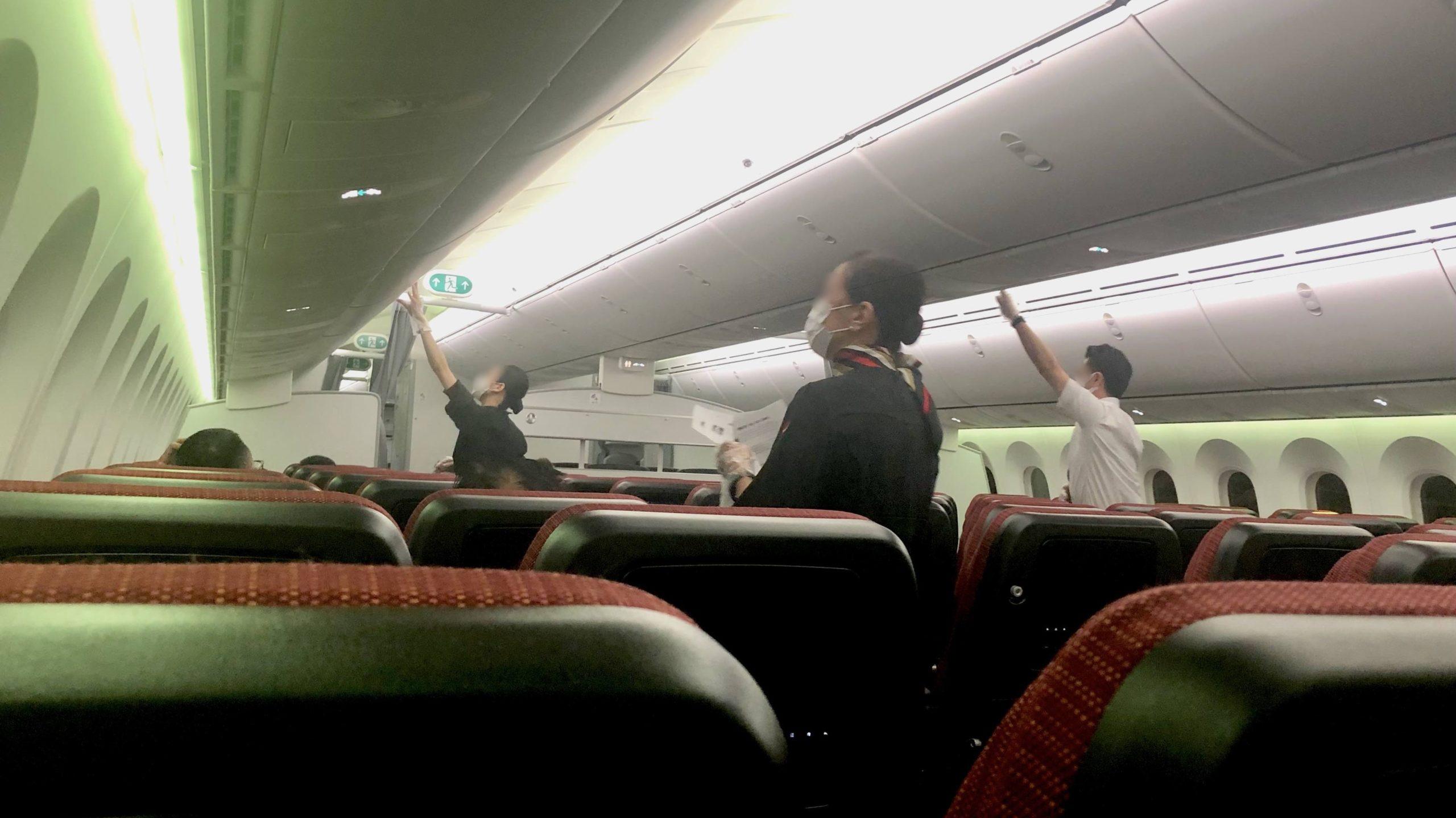 JAL機内の様子